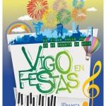Cartel Festas en Vigo 2015