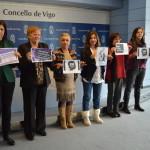Rosario Otero, Carmen Rodal, Ángeles Arias, Uxía Blanco, Luísa Ocampo e Yolanda Díaz
