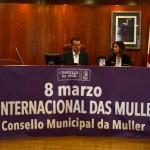Benvida do Alcalde Abel Caballero acompañado pola Concelleira de Igualdade Uxía Blanco