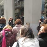 """A décima parada produciuse no número 44 da Rúa do Príncipe en memoria de Rosario Hernández """"A Calesa"""""""