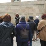 Onceava parada no actual MARCO, antiga cárcere de Vigo, en memoria de Urania Mella