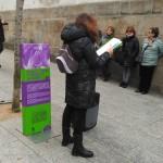 A última parada produciuse na Ronda de Don Bosco, no espazo contra a violencia de xénero