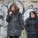 María Casar presentando o roteiro xunto con Luísa Ocampo, de Mulheres Nacionalistas Galegas