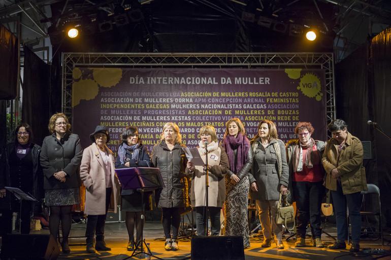 Manifesto do día da muller na Plaza da Constitución