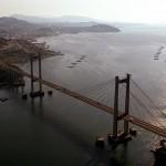 Vistas aéreas da cidade de Vigo