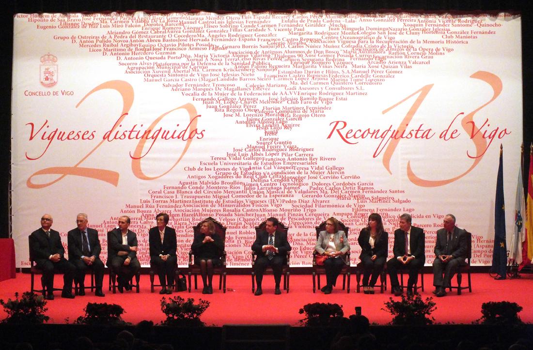 Reconquista 2013, nomeamento Vigueses Distinguidos e Medalla da Cidade - slide 13