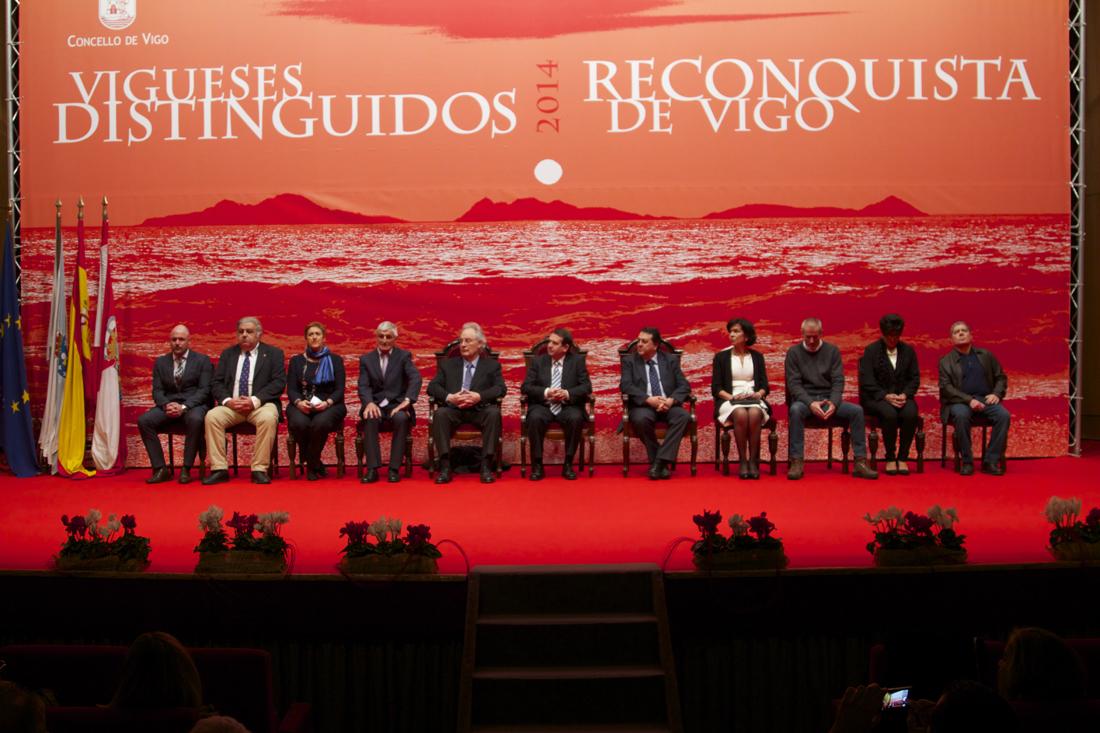 Reconquista 2014, Acto entrega de galardóns de Vigueses Distinguidos e Medalla da Cidade - slide 1